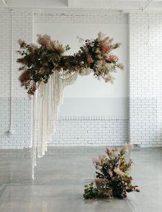 Wedding Venue Inspiration | Venue Floral Inspiration | Ceremony Backdrop | Ceremony Florals | Floral Inspiration | Floral Garland | Native Floral Arrangement |