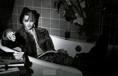 Sasha Pivovarova as John Galliano by Peter Lindbergh for Vogue Paris, December 2006