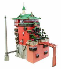 Kb09 Studio Ghibli Spirited Away Aburaya Bathhouse Assembly Paper Craft Kit