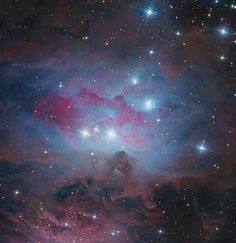 Stargazers Capture Stunning Running Man Nebula Photo - Astrophotographers Bob and Janice Fera took this image of NGC 1973, also known as the Running Man Nebula, on Jan. 2 to Jan. 4, from Eagle Ridge Observatory in Foresthill, Calif. (http://www.feraphotography.com/)