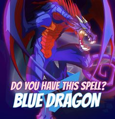 "SPELLS GALLERY: BLUE DRAGON ""Blue dragons are born in a storm and during the storm they die. People say that there is no other way to kill that beast and they have good reasons for that."" Bluebell of the Gypsy Clan #game #rpg #fantasy #dragons #mages #magic #spells #warlock Play now! App Store / iOS: https://itunes.apple.com/app/war-of-warlocks/id799551713?mt=8 Google Play / Android: https://play.google.com/store/apps/details?id=air.com.greengeniegames.warlocks"