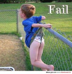 Failed fence jump