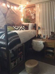 This western vibe dorm is full of cute dorm room ideas!