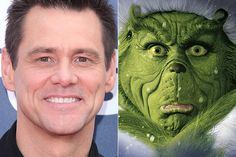 Jim Carrey/Grinch | The 16 Best Special Effects Makeup Before And Afters