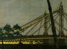 Albert Bridge. Chelsea, London. by William Brooker   : 1953