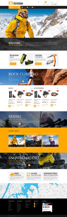 12+ Excellent Sports Equipment Store Themes for PrestaShop - Extreme Sports Clothing Shop