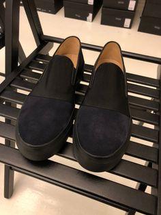 Buy Dries Van Noten 2017 Suede Slippers - Dries Van Noten, Size: 11, Description: Retail  450€ Suede Color  Dark Blue, Seller: deanmoriarty, Location: Europe