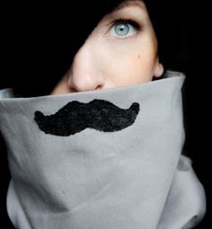 Fake Mustache Neck Warmer - It's always warmer with a mustache