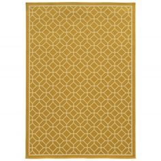 Riviera Gold Tile Outdoor Rug by Sphinx by Oriental Weavers