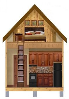 Texas Tiny Homes | Plan 448 | Texas Tiny Homes -- click for more interesting plans with attractive exteriors