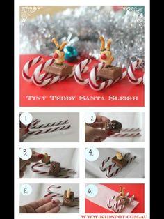 Tiny Teddy Santa Sleigh Christmas Candy, Christmas Treats, All Things Christmas, Christmas Holidays, Christmas Goodies, Christmas Shirts, Christmas Recipes, Merry Christmas, Xmas Food
