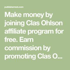Make money by joining Clas Ohlson affiliate program for free. Earn commission by promoting Clas Ohlson affiliate offers when you become a partner of Clas Ohlson affiliate networks. Marketing Program, Affiliate Marketing, How To Make Money, How To Become, Programming, Promotion, Free, Computer Programming, Coding