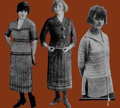 Leach's 6D 3 c.1922 Vintage Knitting Jumpers Cloaks by ivarose