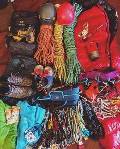 @raynelee_ packing for her next trip. #climbing #rockclimbing #climbinggear…