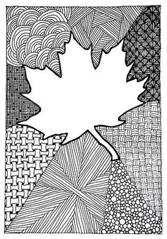 Zentangle #97 - Maple-leaf Card | Hilda Rytteke | Flickr