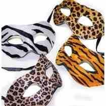 6 Mascaras Venecianas Leopardo Animal Print Carnaval Carioca