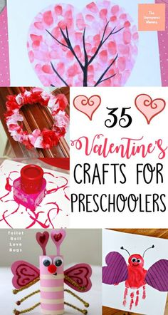 Celebrate the loving holiday this year by doing these Valentine's crafts with your preschoolers. #valentine #crafts #kids