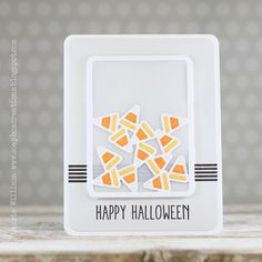 Happy Halloween Card by Laurie Willison for Papertrey Ink (August 2014)