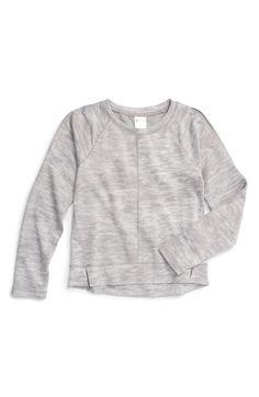 Zella Girl 'Cool Down' Heathered Sweatshirt (Little Girls & Big Girls) available at #Nordstrom