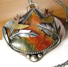 Jennifer Blackwell. Picasso jasper, sterling silver, brass and copper: