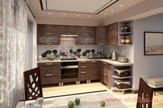 STOLLINE : Каталог мебель «Stolline» : Кухни : Готовые кухни : «Селена» Дуб темный