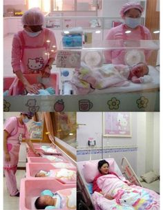 Hello Kitty Maternity Unit in Japan. I thought the Maternity Unit i work at was pretty cool.