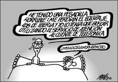 #Lamadredetodaslaspesadillas #atencionalcliente #iberia #telefonica #forges