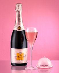 Champagne Veuve Clicquot: Cuvée Rosé, rosé Champagne - Veuve Clicquot | Love the pink service bell. Ding ding! More pink champagne, please.