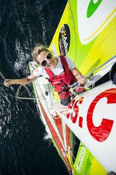 Samantha Davies prête pour le départ de Vendée Globe, quelle classe!
