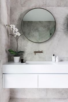"<b>Bathroom</b> To create more space, a bath was removed and the door opening moved to fit a double vanity by <a href=""http://www.ispacesolutions.com.au/"" target=""_blank"">iSpace Solutions</a>. ""We used weathered brass tapware that will eventually develop a patina – a look that we love,"" says Nikki. Brodware 'yokato' tapware, <a href=""https://candana.com.au/"" target=""_blank"">Candana</a>. <a…"