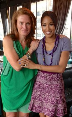 both Jessica Mindich and the gorgeous Alicia Quarles sporting the Caliber Collection bangles and cuffs! What a great interview at the Dream Hotel Downtown.