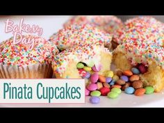 Pinata Cupcakes | BakeMyDay - YouTube