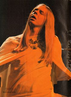 Rick Wakeman of Yes, page from swiss magazine POP 1975