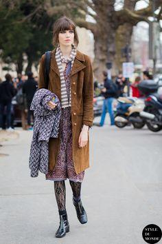 Paris Fashion Week FW 2015 Street Style: Grace Hartzel