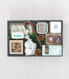 Send retro holiday greetings to friends with a crate as colorful and cheerful as the season: 'Holiday Cheer' by Winston Flowers.