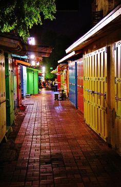 Olvera street vendor stalls night!