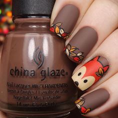 Reinforce Your Nails With Fall Nail Art Barbaramo .- Reinforce your nails with Fall Nail Art - Simple Nail Art Designs, Fall Nail Designs, Cute Nail Designs, Easy Nail Art, Nails Design Autumn, Fall Nail Art Autumn, Nails For Autumn, Nail Ideas For Fall, Autumn Nails Acrylic