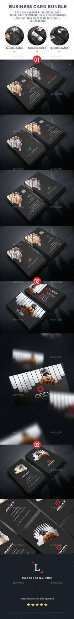 Photography Business Card Template PSD Bundle. Download here: http://graphicriver.net/item/photography-business-card-bundle/15211075?ref=ksioks