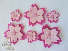 https://flic.kr/p/ehR31w | Apliques de Flor de Cerejeira | Essas flores foram usadas na decoração  do quartinho da Beatriz. Mas podem ser aplicadas em qualquer lugar :)