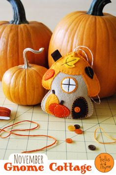 The 'November Gnome Cottage' ornament pattern is here! :)