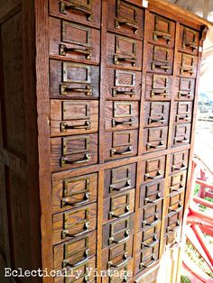 Vintage Card Catalog via Eclectically Vintage
