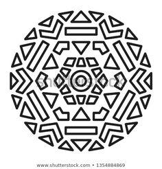 Simple Mandala Shape for Coloring. Book Page. Outline, Oriental, Simple Mandala, Dot Art Painting, Mandala Coloring Pages, Panel Art, Circles, Illustration, Versace
