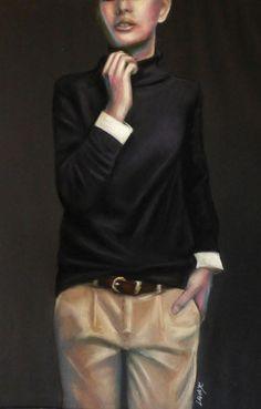 mode pastels secs sur fond noir