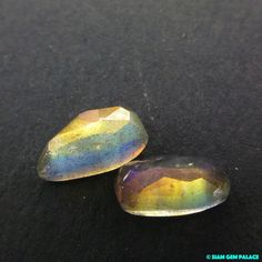 LABRADORITE. Natural. Micro Facet Cabs. Freeform. by gempalace