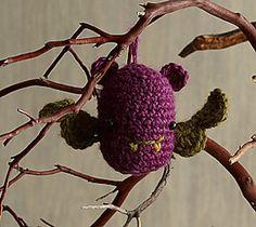 Make this adorable amigurumi bat for Halloween! (Lion Brand Yarn)