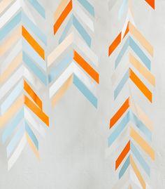 DIY Photo Booth Backdrop | Herringbone Mobile Backdrop | Confetti Pop