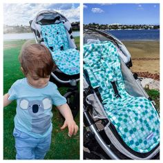 @pramskins posted to Instagram: Retro Aqua Dot pram liner set in action! Comfort, style and just perfect for a warm summer day outing. Top marks for the outfit coordination 🐻💙 FREE shipping Australia wide! #pramskins #pramliners #pramliner #pram #prambaby #pramliner #pramaccessories #stroller #uppababypramliner #babyshowergift #babythings #strolleraccessories #babyessentials #paddedpramliner #newmum #babystore #babyshoweridea #babyshower  #handmadeinaustralia #babystrollers #shop Pram Liners, Top Marks, Comfort Style, New Mums, Baby Store, Baby Essentials, Snuggles, Babyshower, Baby Shower Gifts