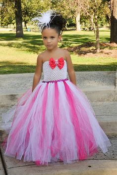 >> Click to Buy << Hot pink girl Social outfit Fluffy Tulle ball gown Flower props costum princess my 1st Birthday Performing Party Dresses #Affiliate