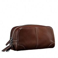 Coach Transatlantic Travel Bag for Men ~ The perfect place to store all your grooming essentials when you travel.