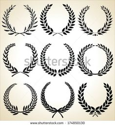 Eps Vector, Vector Free, Laurel Wreath, Coreldraw, Future Tattoos, Graphic Design Art, Tatoos, Monogram, Clip Art
